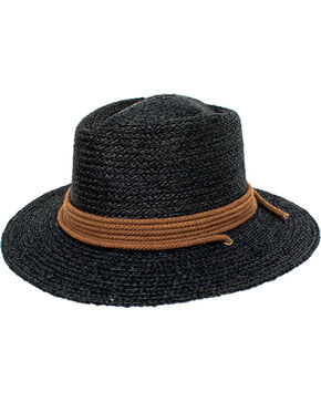 Peter Grimm Women's Black Maju Straw Hat , Black, hi-res