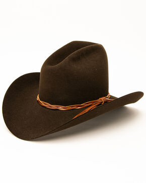 Rodeo King Men's Gus 5X Felt Hat, Chocolate, hi-res