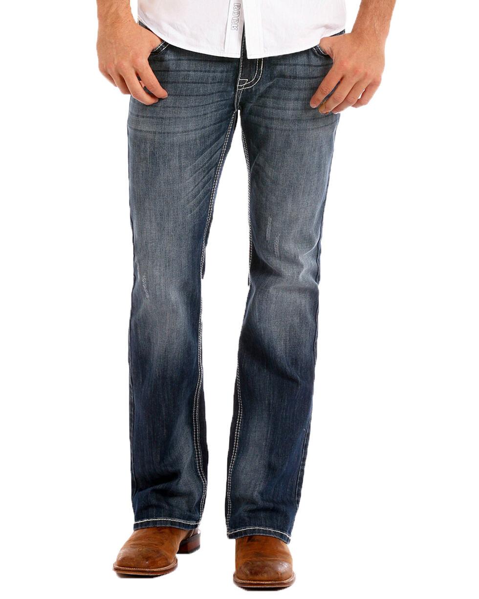 Rock & Roll Cowboy Men's Reflex Pistol Straight Leg Jeans , Indigo, hi-res