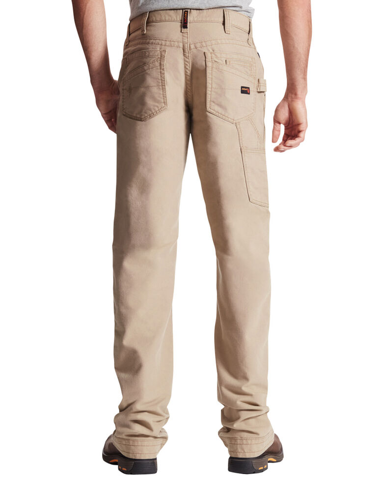 Ariat Men's Flame-Resistant M4 Workhorse Bootcut Work Jeans, Khaki, hi-res