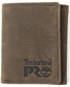 Timberland Pro Men's Dark Brown Basic Trifold Wallet, Dark Brown, hi-res