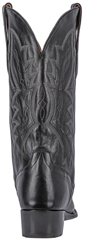 El Dorado Handmade Black Vanquished Calf Cowboy Boots - Round Toe, Black, hi-res