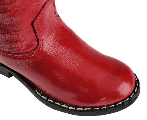 Old West Toddler Boys' Roper Cowboy Boots - Round Toe, Red, hi-res