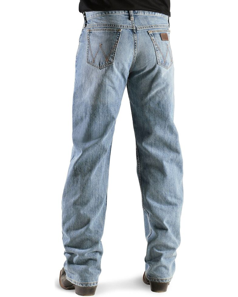 """Wrangler Jeans - 20X Competition Laser Blue Denim Relaxed Fit - 38"""" Tall Inseams, , hi-res"""