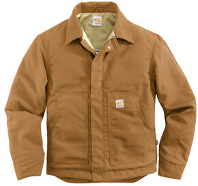 Carhartt Men's Flame-Resistant Canvas Dearborn Jacket, Carhartt Brown, hi-res