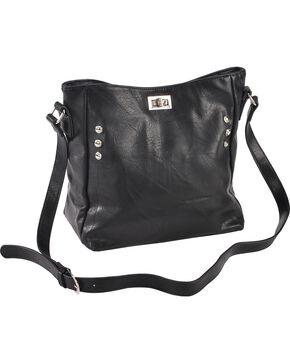 Wear N.E. Wear Women's Double Zipper Concealed Carry Handbag, Black, hi-res