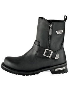 Milwaukee Motorcycle Clothing Co. Women's Afterburner Moto Boots - Round Toe, Black, hi-res