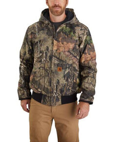Carhartt Men's Washed Duck Camo Insulated Hunt Active Jacket , Camouflage, hi-res