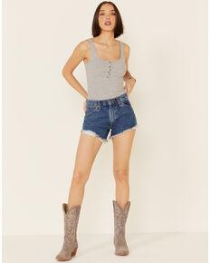 Wrangler Women's Frayed Hem Shorts, Blue, hi-res