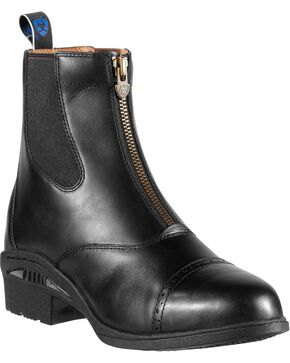 Ariat Devon Pro Waterproof Zip-Up Boots - Round Toe, Black, hi-res