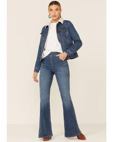 Lee Women's Medium Wash Canton Blue High Rise Super Flare Jeans , Blue, hi-res