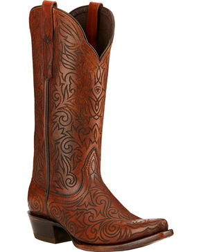 Ariat Sterling Cowgirl Boots - Snip Toe , Cognac, hi-res