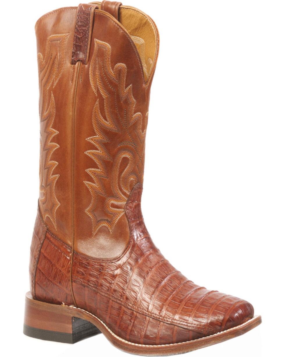 Boulet Peanut Caiman Belly Boots - Square Toe, Peanut, hi-res