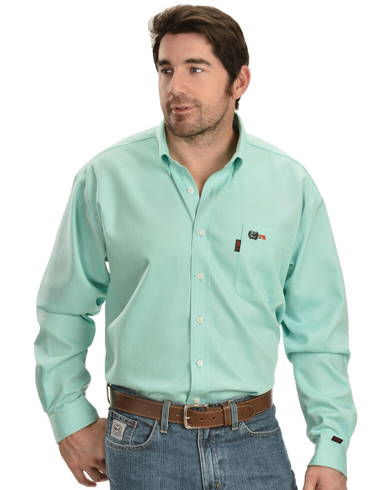 Cinch Light Green Flame Resistant Work Shirt Sheplers