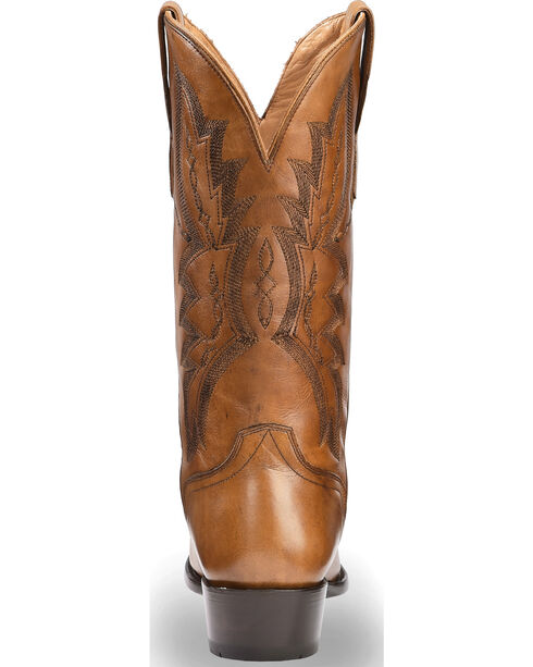 El Dorado Men's Handmade Tan Embroidered Western Boots – Round Toe, Tan, hi-res