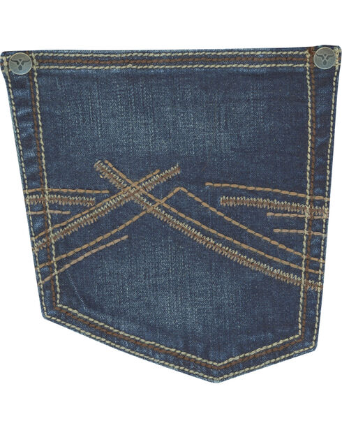Wrangler Men's Indigo Vintage 20X No. 44 Stretch Jeans - Straight Leg , Indigo, hi-res