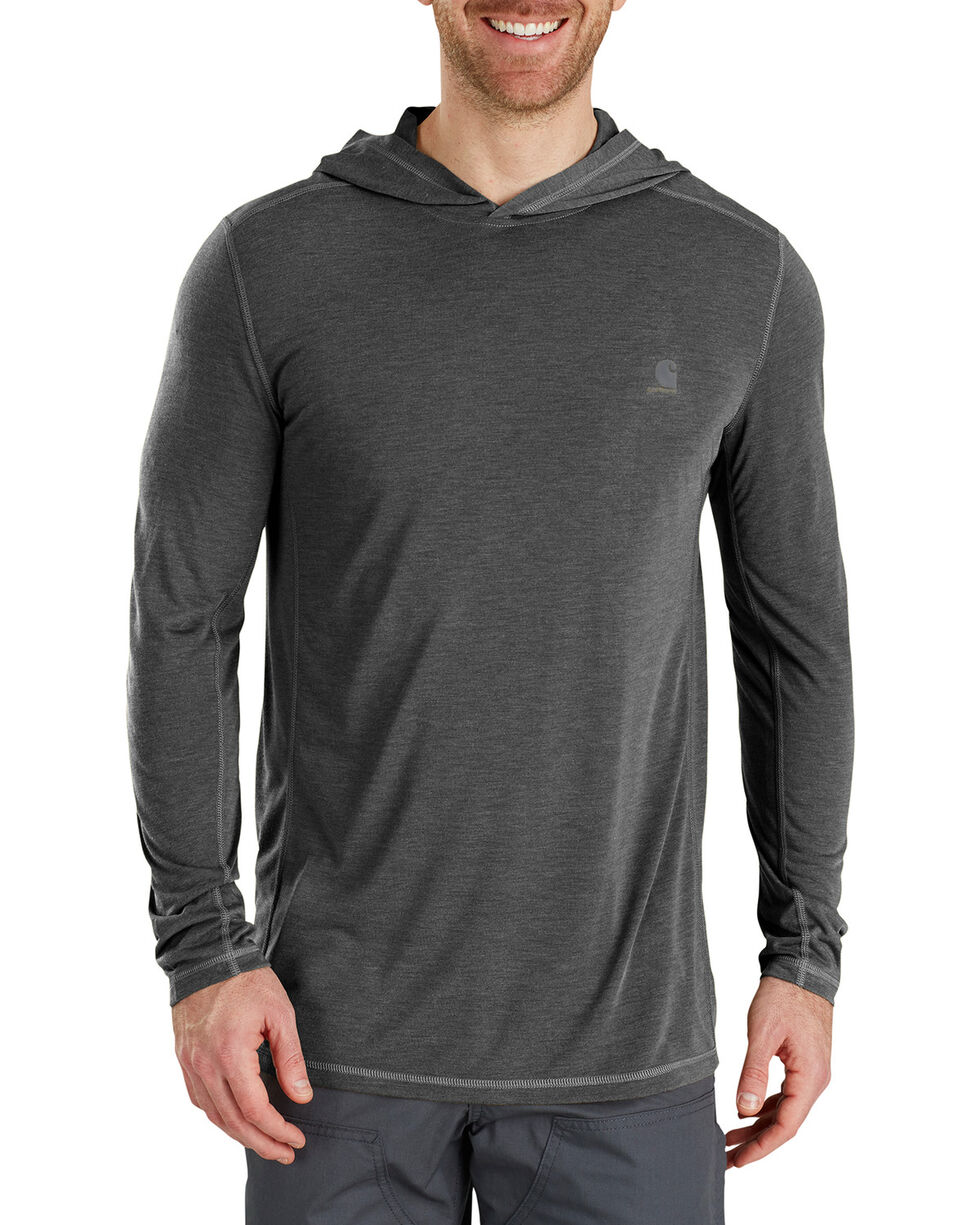 Carhartt Men's Force Extremes Hooded Pullover , Charcoal, hi-res