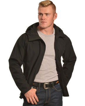 American Worker Men's Zion Soft-Shell Hooded Jacket, Black, hi-res