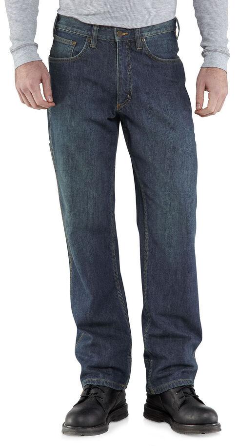 Carhartt Relaxed Fit WorkFlex Linden Jeans, Worn Denim, hi-res