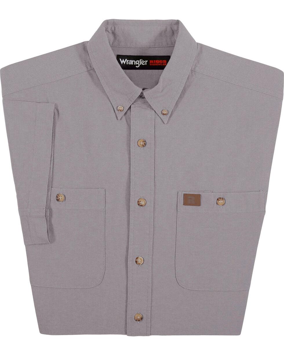 Wrangler Men's Grey Riggs Workwear Chambray Work Shirt , Grey, hi-res