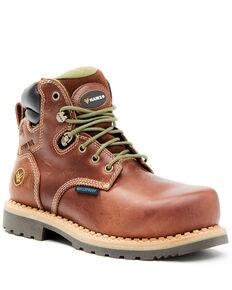 Hawx Women's Platoon Waterproof Work Boots - Composite Toe, Brown, hi-res