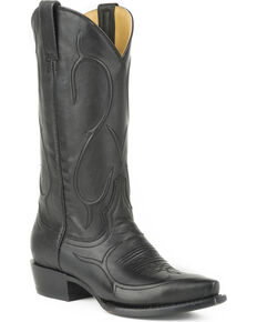 Stetson Women's Carly Black Western Boots - Snip Toe, Black, hi-res
