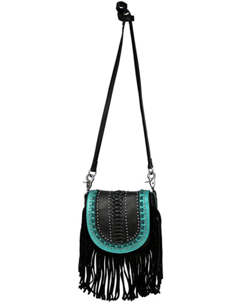 Montana West Women's Fringe Crossbody Bag, Black, hi-res