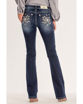 Miss Me Women's Pocket Bling Medium Boot Jeans , Blue, hi-res