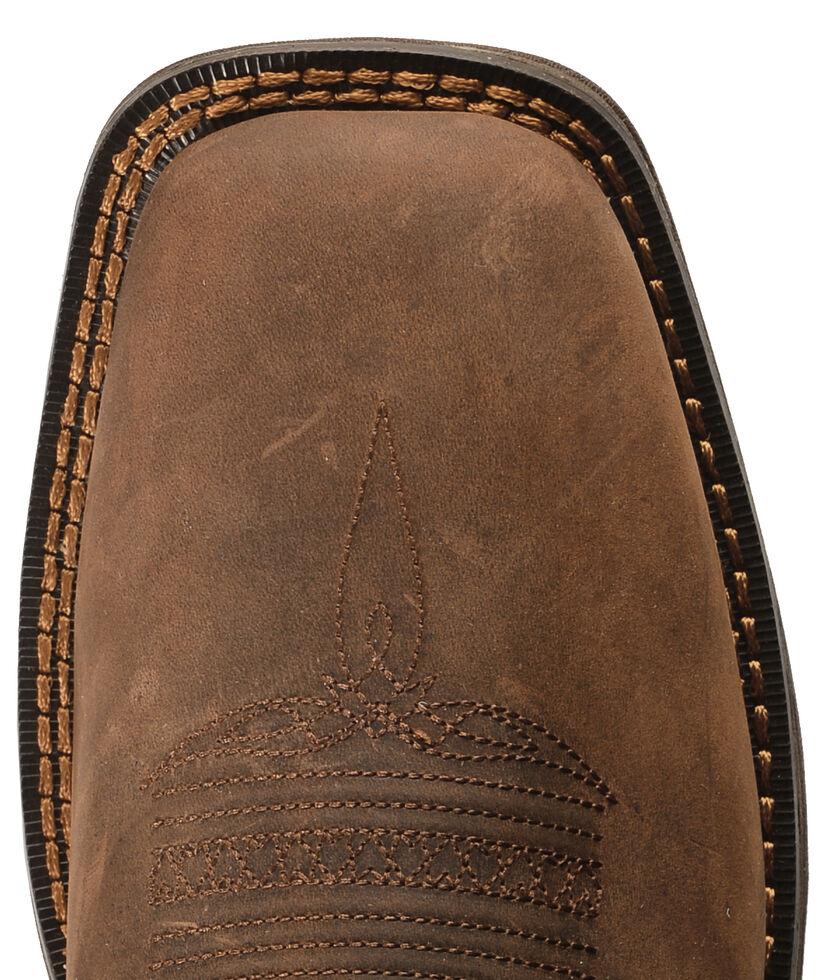 Durango Rebel Men's American Flag Cowboy Boots - Square Toe, Brown, hi-res