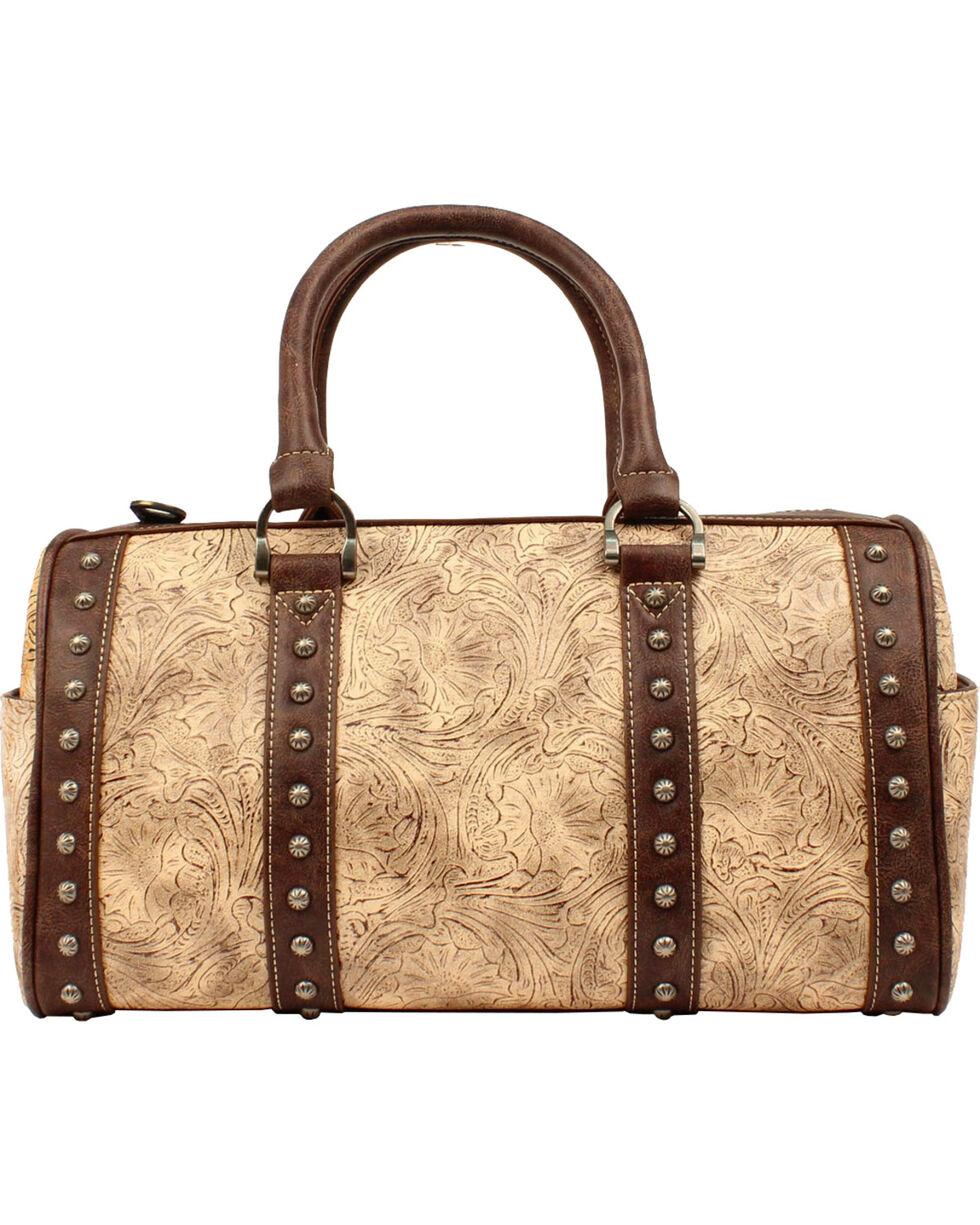 Blazin Roxx Women's Lydia Floral Embossed Handbag, Taupe, hi-res