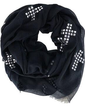 Shyanne Women's Black Studded Cross Scarf , Black, hi-res