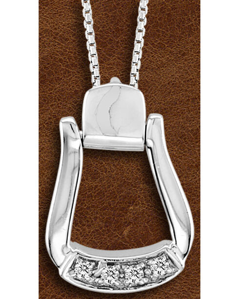 Kelly Herd Sterling Silver CZ-Based Oxbow Necklace, Silver, hi-res