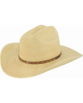 Larry Mahan Boys' Granger Palm Junior Cowboy Hat, Natural, hi-res