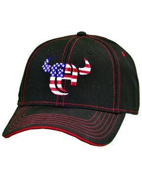 Cowboy Hardware Men's Flag Logo Cap, Black, hi-res