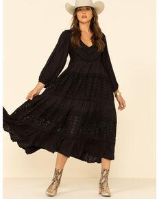 Free People Women's Mockingbird Maxi Dress, Black, hi-res