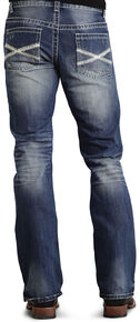 Stetson Rock Fit Bold X Stitched Jeans, Med Wash, hi-res