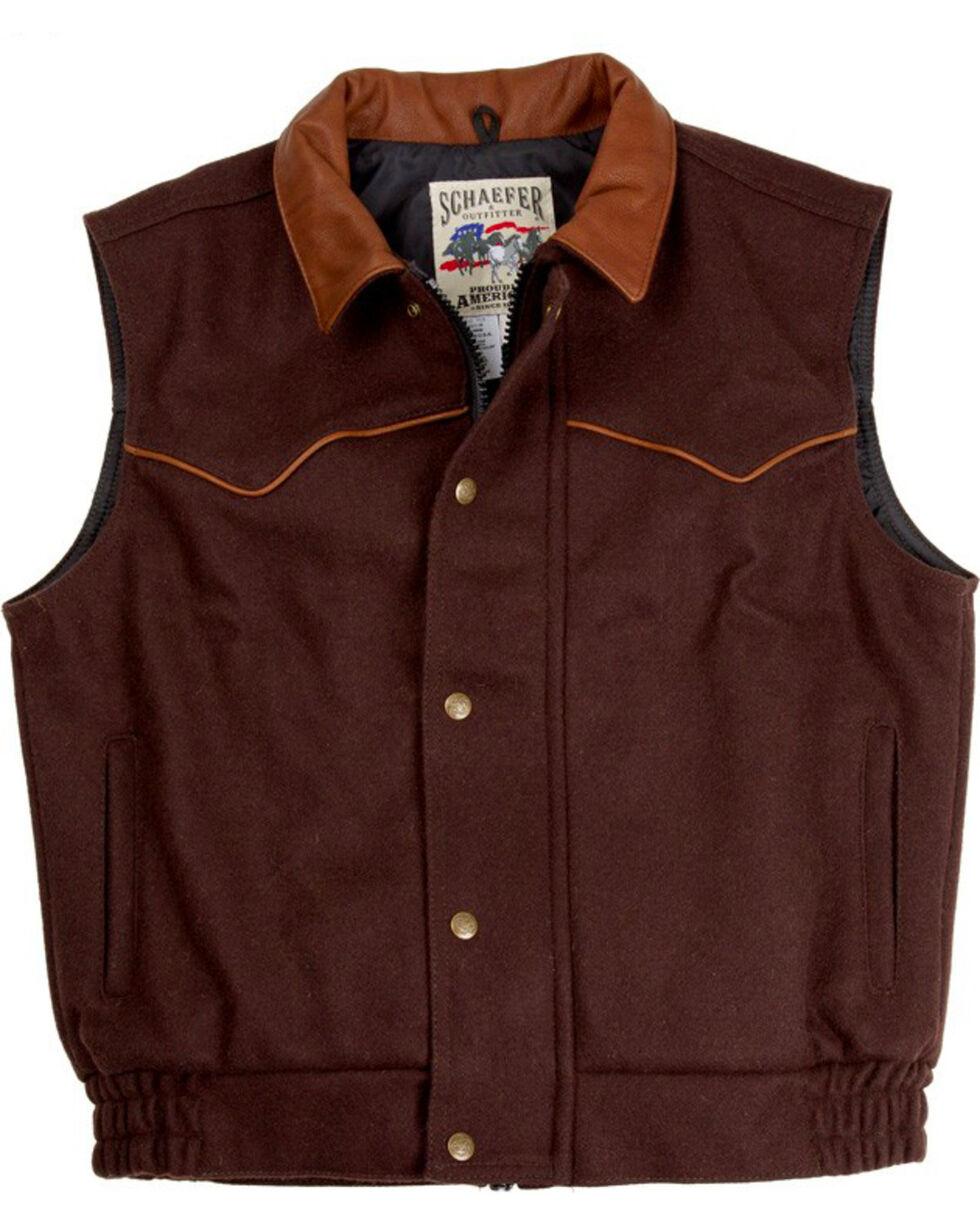Schaefer Men's 715 Competitor Vest - Big & Tall, Chocolate, hi-res