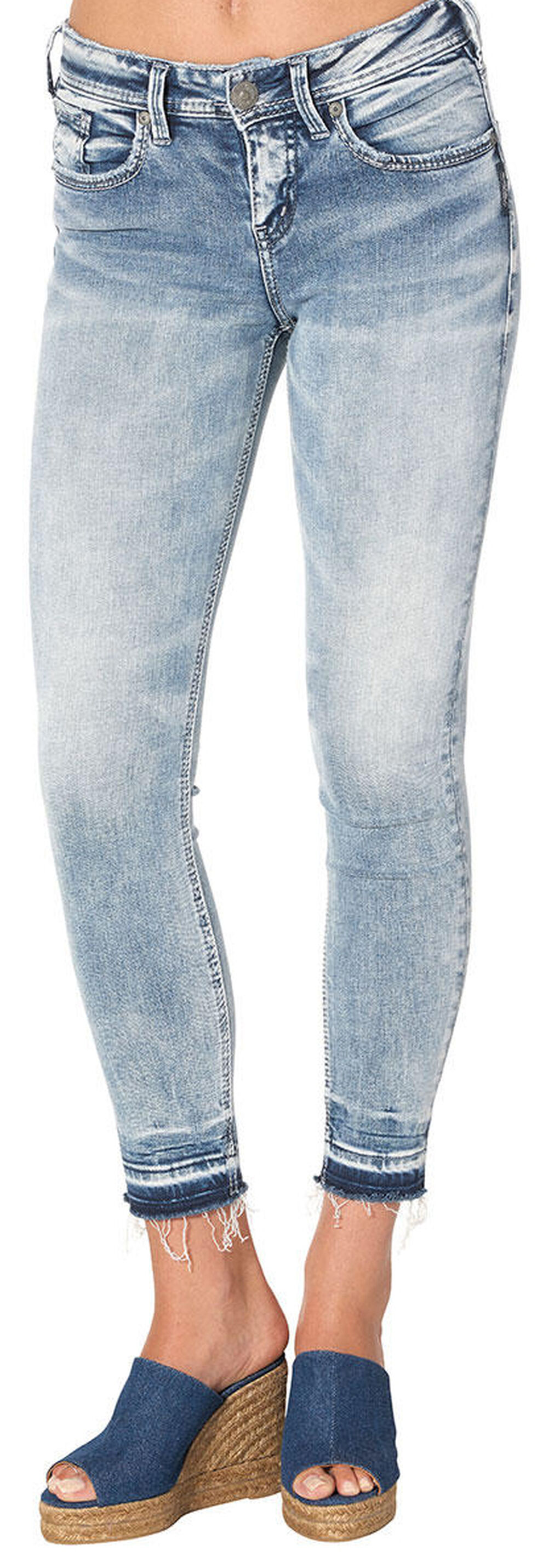 Silver Women's Avery Light Wash Ankle Skinny Jeans - Plus, Indigo, hi-res