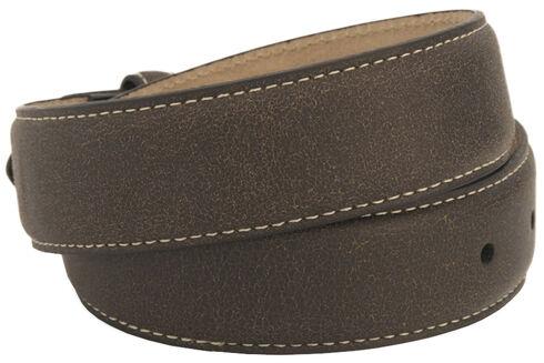 Nocona Girls' Oval Cross Buckle Belt, Brown, hi-res