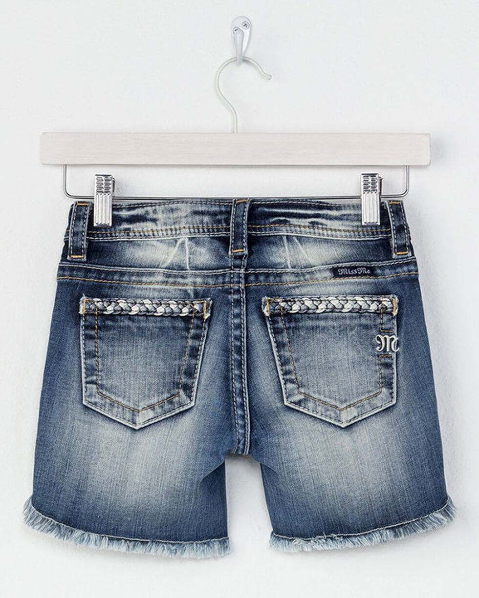 Miss Me Girls' By My Side Mid Shorts , Blue, hi-res