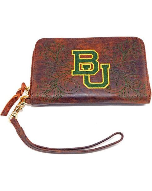 Gameday Boots Baylor University Leather Wristlet, Brass, hi-res