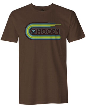 Hooey Men's Vinyl Hooey Short Sleeve Tee, Brown, hi-res