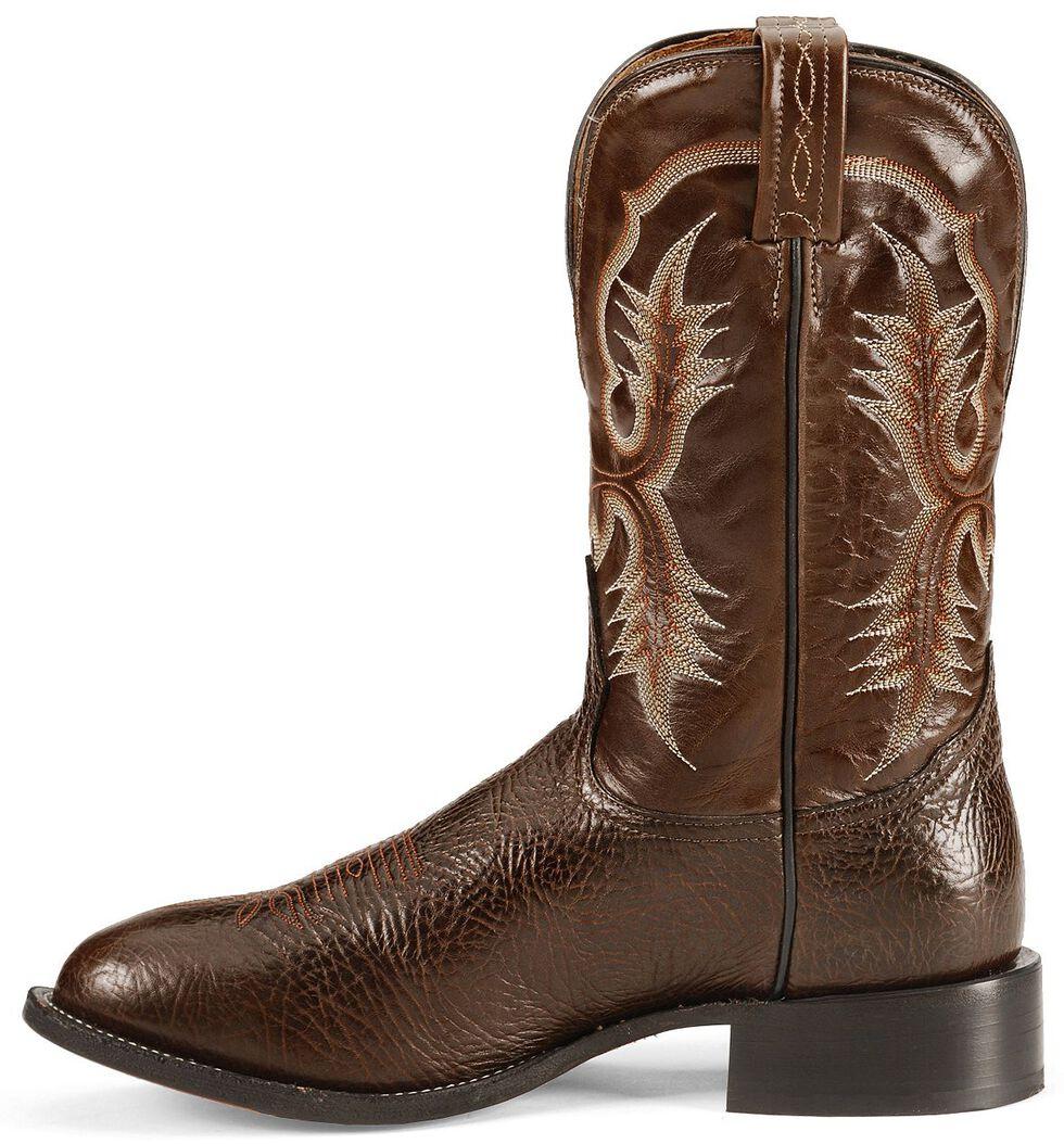 Tony Lama Chocolate Stockman Cowboy Boots - Round Toe, Chocolate, hi-res