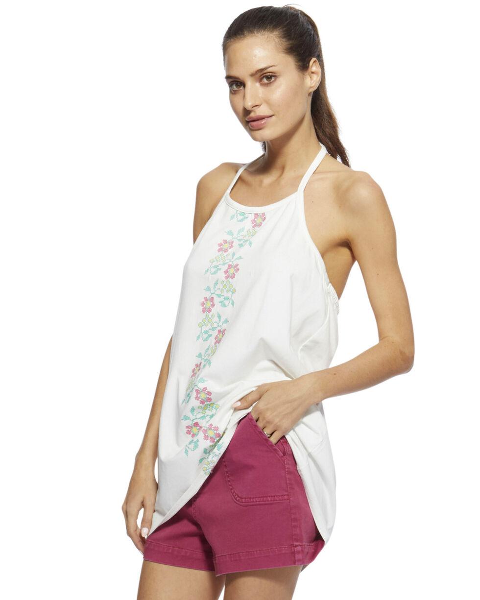 Angel Premium Women's White Daisy Tank Top , White, hi-res