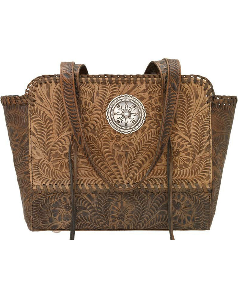 American West Women's Copper Annie's Concealed Carry Tote , Tan, hi-res
