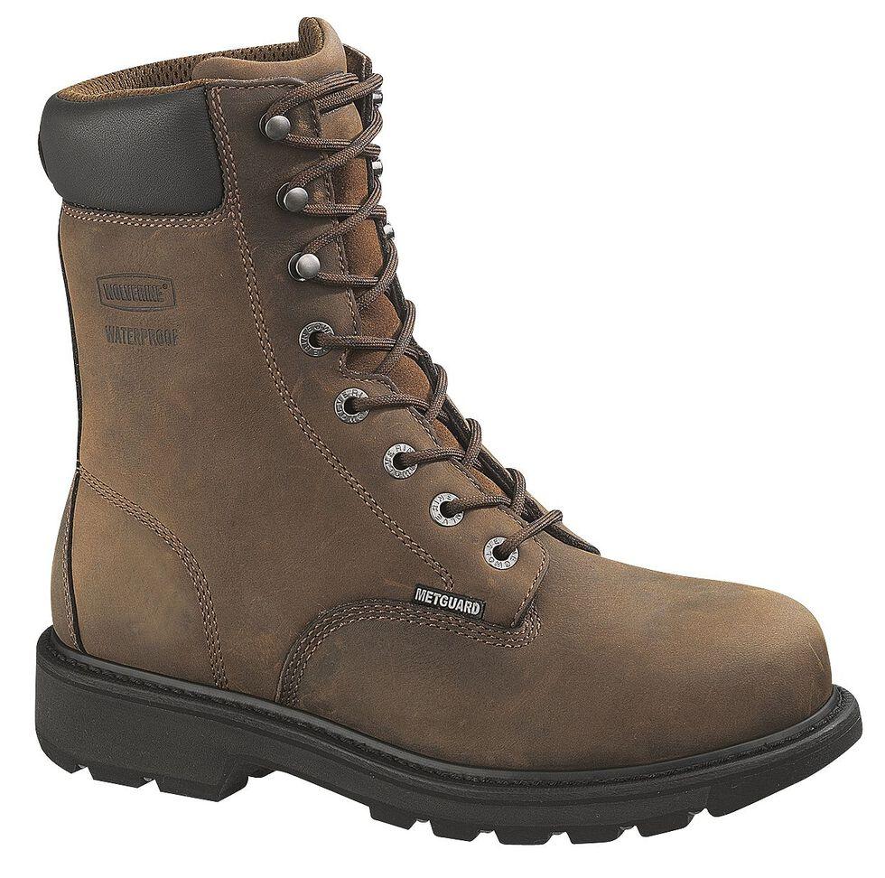 """Wolverine McKay 8"""" Work Boots - Steel Toe, Brown, hi-res"""