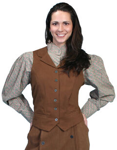 Rangewear by Scully Brushed Twill Vest, Brown, hi-res