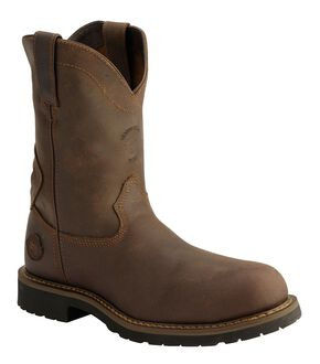 Justin Utah Rugged Worker Work Boots - Comp Toe, Brown, hi-res