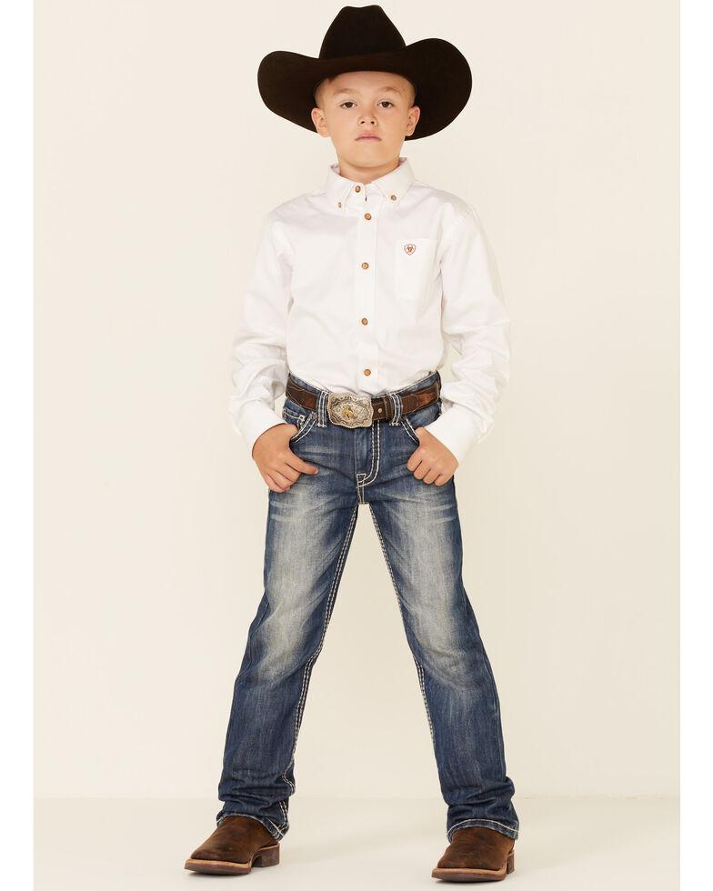 Rock & Roll Denim Boys' BB Gun Distressed Vintage Boot Cut Jeans, Denim, hi-res