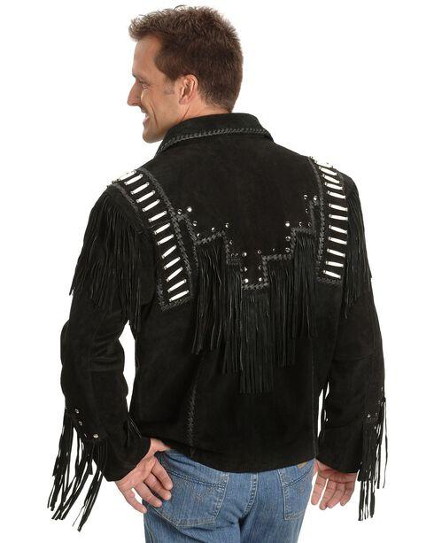 Liberty Wear Bone Fringed Leather Jacket - Big & Tall, , hi-res